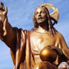 Arte: SÁGRADO CORAZÓN DE JESÚS TALLERES ORNATO PASTA DE MADERA. Lote 207157512