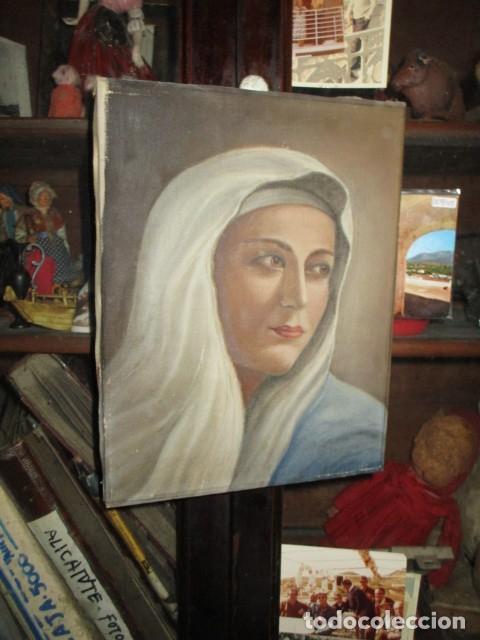Arte: ANTIGUA PINTURA VIRGEN OLEO EN LIENZO CIRCULO DE GASTON CASTELLO ? ALICANTE - Foto 51 - 140466186