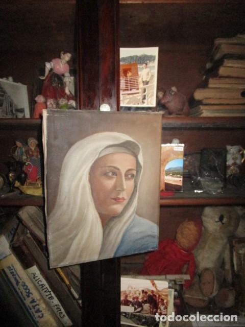 Arte: ANTIGUA PINTURA VIRGEN OLEO EN LIENZO CIRCULO DE GASTON CASTELLO ? ALICANTE - Foto 52 - 140466186
