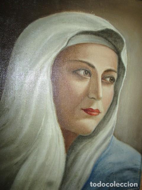 Arte: ANTIGUA PINTURA VIRGEN OLEO EN LIENZO CIRCULO DE GASTON CASTELLO ? ALICANTE - Foto 2 - 140466186