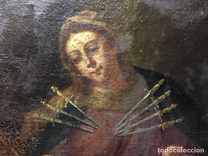 Arte: (MT) ÓLEO RELIGIOSO VIRGEN DE LA DOLOROSA S.XVIII, 76X91cm - Foto 2 - 207607791