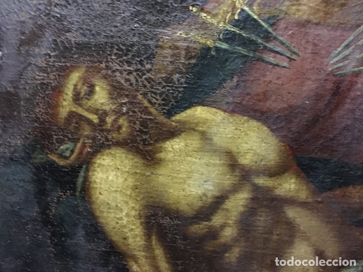Arte: (MT) ÓLEO RELIGIOSO VIRGEN DE LA DOLOROSA S.XVIII, 76X91cm - Foto 3 - 207607791