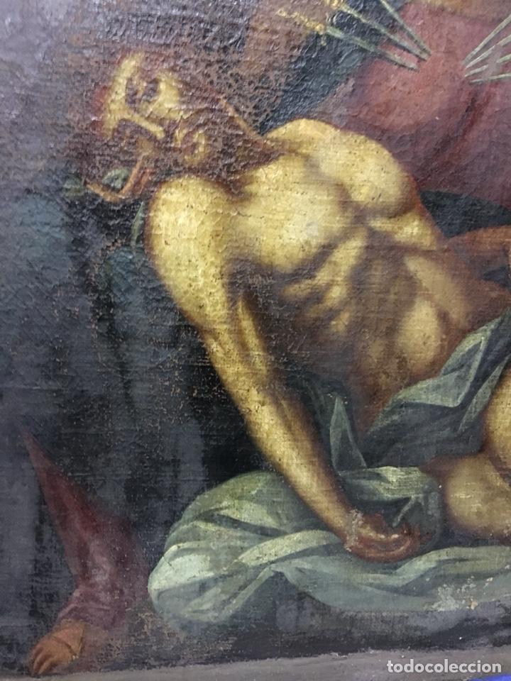 Arte: (MT) ÓLEO RELIGIOSO VIRGEN DE LA DOLOROSA S.XVIII, 76X91cm - Foto 8 - 207607791