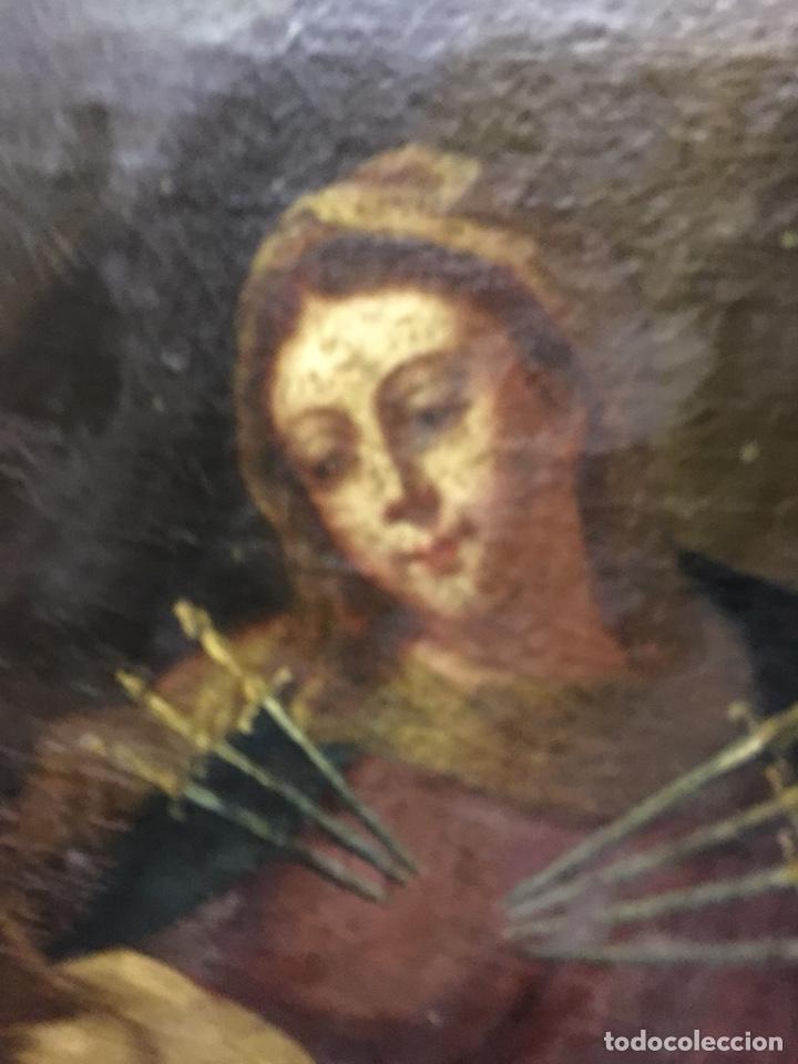 Arte: (MT) ÓLEO RELIGIOSO VIRGEN DE LA DOLOROSA S.XVIII, 76X91cm - Foto 12 - 207607791
