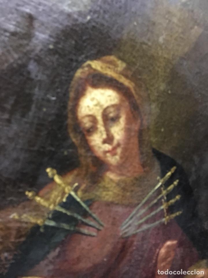Arte: (MT) ÓLEO RELIGIOSO VIRGEN DE LA DOLOROSA S.XVIII, 76X91cm - Foto 13 - 207607791