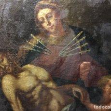 Arte: (MT) ÓLEO RELIGIOSO VIRGEN DE LA DOLOROSA S.XVIII, 76X91CM. Lote 207607791
