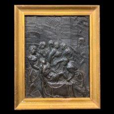 Arte: EXTRAORDINARIO RELIEVE, ENTIERRO DE CRISTO. Lote 207637285