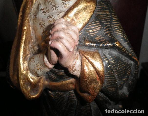 Arte: VIRGEN DE LOS DOLORES. PRECIOSA TALLA EN MADERA MACIZA - Foto 8 - 207723015