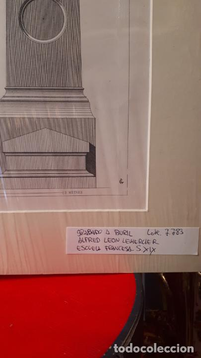 Arte: ARTE FUNERARIO. GRABADO S.XIX - Foto 2 - 207759965
