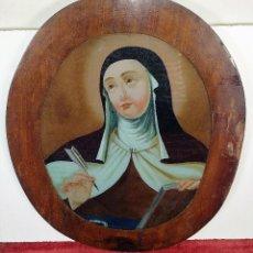 Arte: SANTA TERESA DE JESÚS. ÓLEO SOBRE CRISTAL. ESPAÑA. SIGLO XVIII-XIX. Lote 207820988