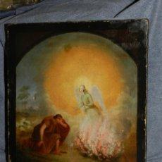 Arte: (M) BONITO ÓLEO RELIGIOSO S.XVIII SIN FIRMAR - 31X26 CM, TIENE 3 AGUJEROS , VER FOTOGRAFIAS. Lote 208724987
