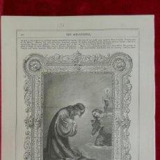 Arte: CHRIST IN THE GARDEN OF GETHSEMANE DE CARLO DOLCI , GRABADO THE ART JOURNAL 1870. Lote 208809916