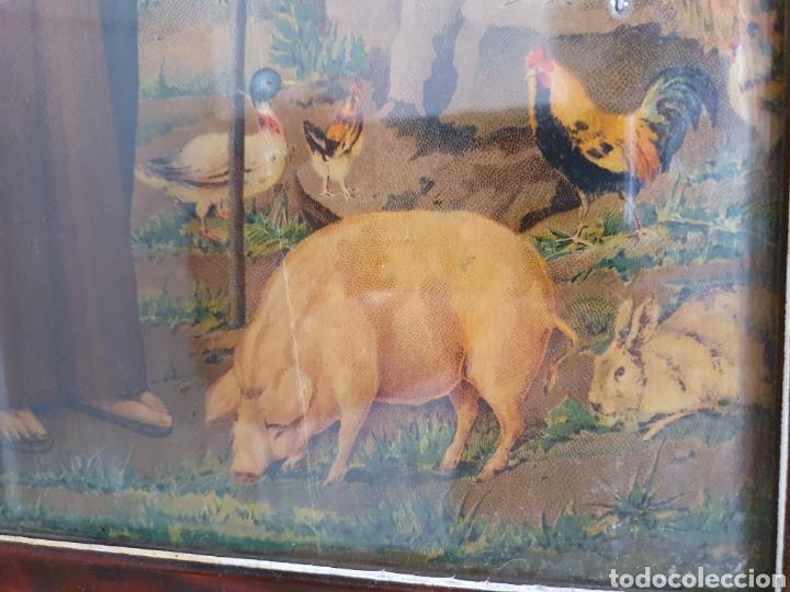 Arte: PRECIOSA Y ANTIGUA LITOGRAFÍA DE SAN ANTON PATRÓN DE LOS ANIMALES - Foto 3 - 162436445