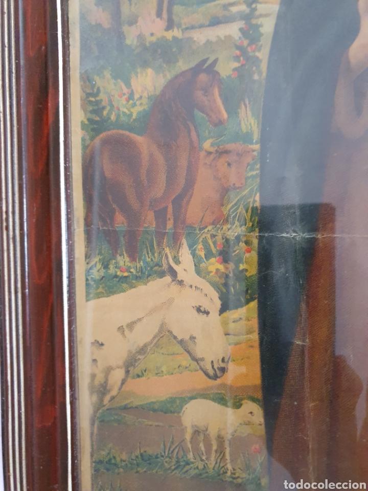 Arte: PRECIOSA Y ANTIGUA LITOGRAFÍA DE SAN ANTON PATRÓN DE LOS ANIMALES - Foto 4 - 162436445
