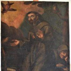 Arte: SAN FRANCISCO RECIBIENDO LOS ESTIGMAS - ÓLEO POSIBLEMENTE SIGLO XVIII - CON REVERSO PINTADO. Lote 209238426