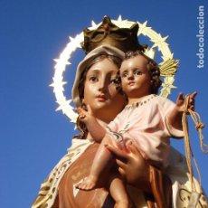 Arte: NUESTRA SEÑORA DEL CARMEN IMAGEN RELIGIOSA EN PASTA. Lote 209400948