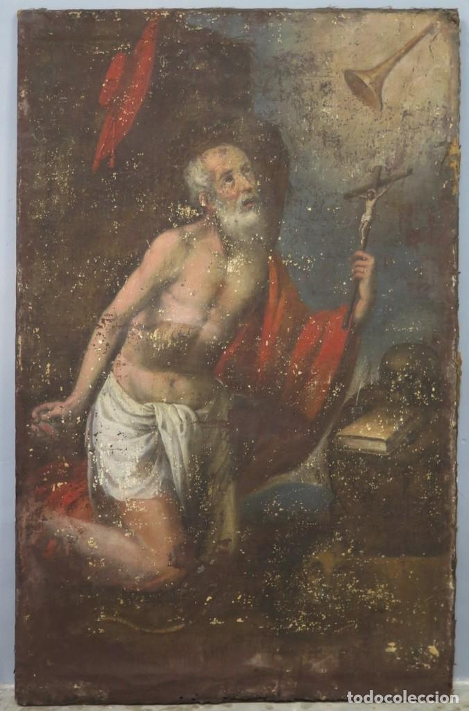 SAN JERONIMO PENITENTE. OLEO S/ LIENZO. SIGLO XVII. ESCUELA ESPAÑOLA (Arte - Arte Religioso - Pintura Religiosa - Oleo)
