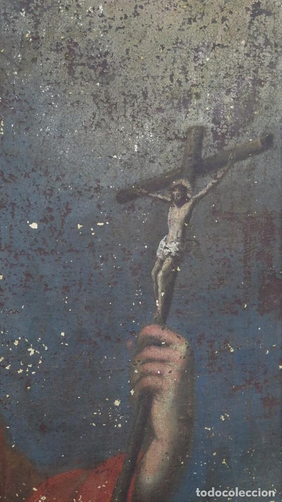 Arte: SAN JERONIMO PENITENTE. OLEO S/ LIENZO. SIGLO XVII. ESCUELA ESPAÑOLA - Foto 3 - 209562478