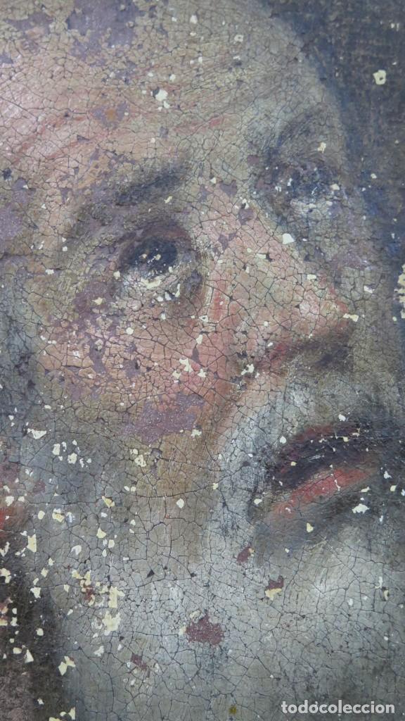 Arte: SAN JERONIMO PENITENTE. OLEO S/ LIENZO. SIGLO XVII. ESCUELA ESPAÑOLA - Foto 14 - 209562478