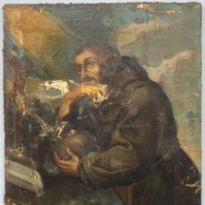 Arte: BONITO SAN FRANCISCO. OLEO S/ LIENZO. ESCUELA ESPAÑOLA. SIGLO XVII-XVIII. Lote 209562890