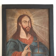 Arte: ANTIGUO ÓLEO SOBRE LIENZO - CRISTO - PINTURA RELIGIOSA ANTIGUA SIGLO XVII - XVIII. Lote 209655615