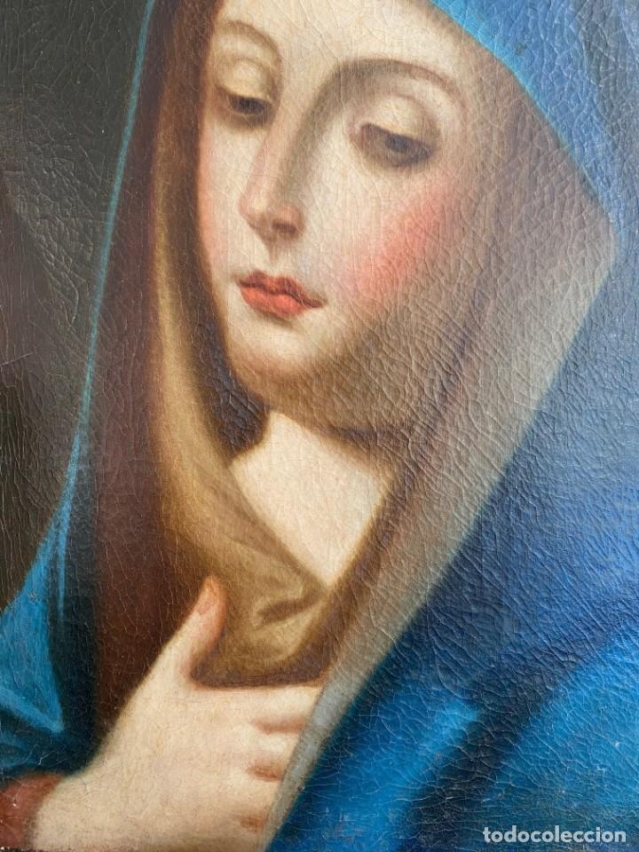 Arte: Cuadro Virgen Dolorosa en óleo sobre lienzo. S. XVIII - Foto 7 - 71055441