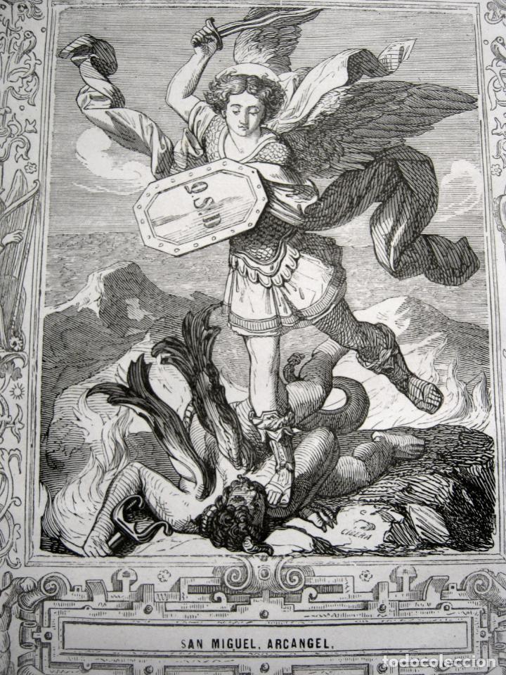Arte: c. 1850 . Bello Grabado litografico SAN MIGUEL ARCANGEL - Foto 2 - 209744061