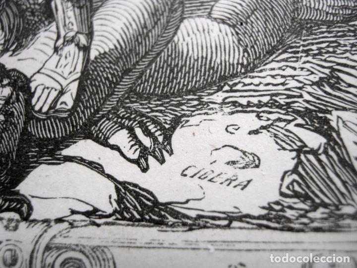 Arte: c. 1850 . Bello Grabado litografico SAN MIGUEL ARCANGEL - Foto 6 - 209744061