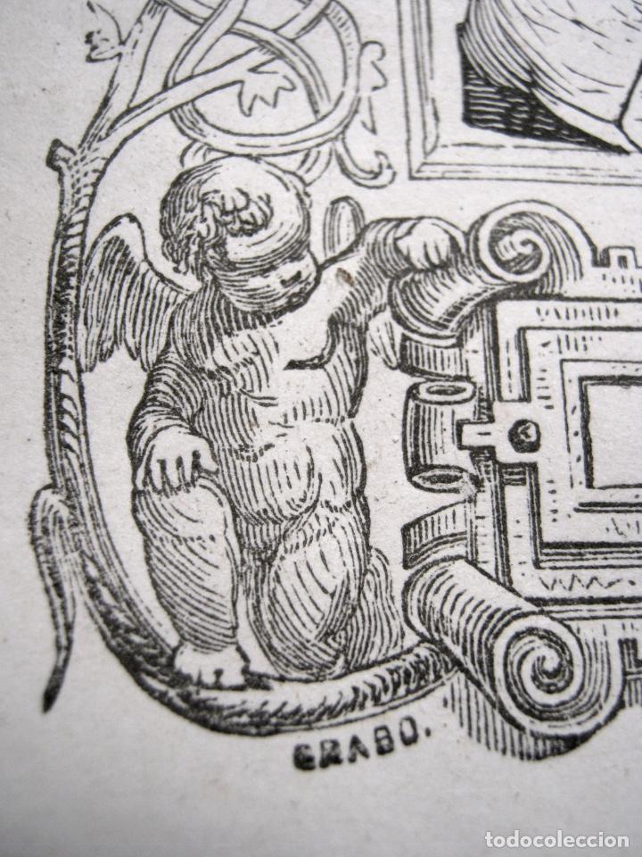 Arte: c. 1850 . Bello Grabado litografico SAN MIGUEL ARCANGEL - Foto 4 - 209744061