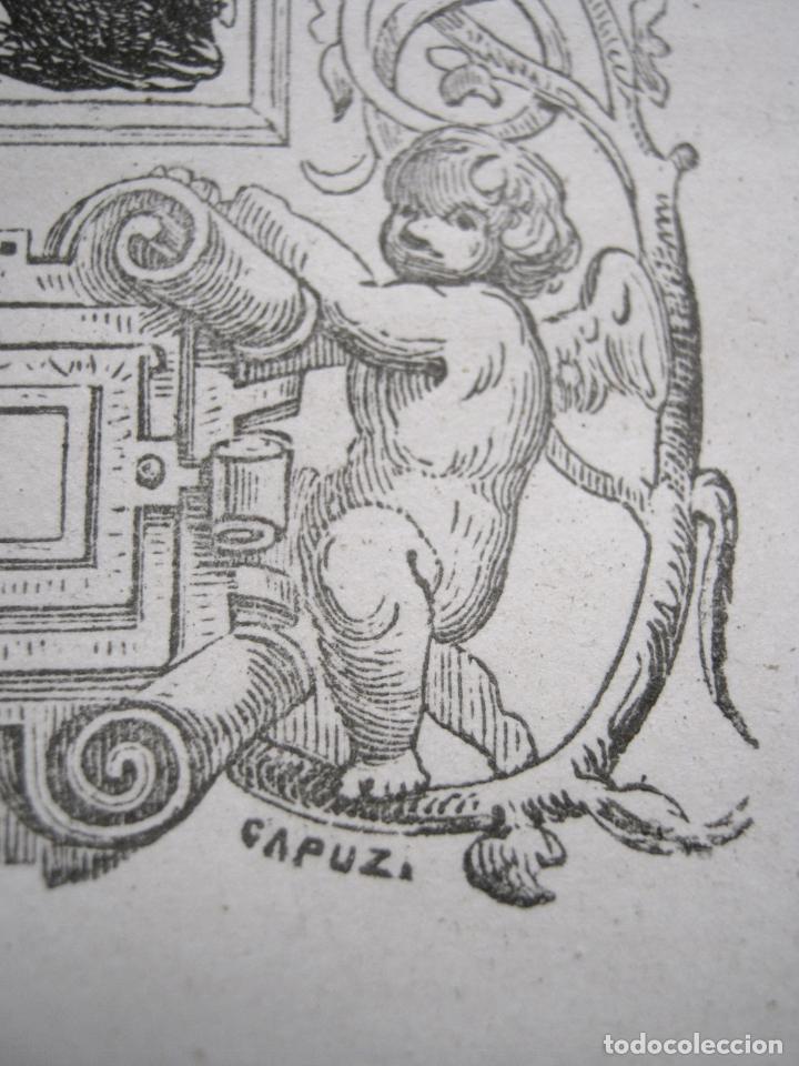 Arte: c. 1850 . Bello Grabado litografico SAN MIGUEL ARCANGEL - Foto 5 - 209744061
