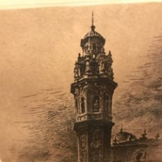 Arte: GRABADO CAMPANARIO IGLESIA DE SAN VALERO, RUZAFA (VALENCIA). ERNEST FURIÓ. Lote 209802907