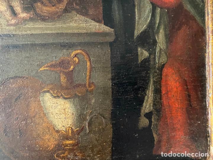 Arte: circuncisión de jesus , óleo tabla del S. XVII o quizás anterior . escuela española - Foto 2 - 209832540