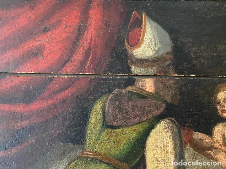Arte: circuncisión de jesus , óleo tabla del S. XVII o quizás anterior . escuela española - Foto 3 - 209832540