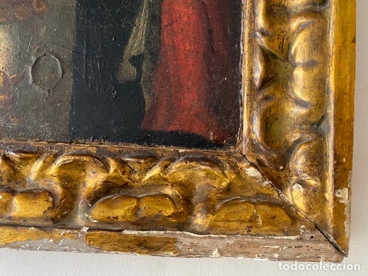 Arte: circuncisión de jesus , óleo tabla del S. XVII o quizás anterior . escuela española - Foto 4 - 209832540