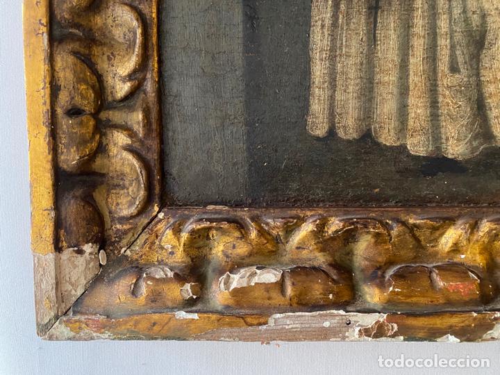 Arte: circuncisión de jesus , óleo tabla del S. XVII o quizás anterior . escuela española - Foto 6 - 209832540
