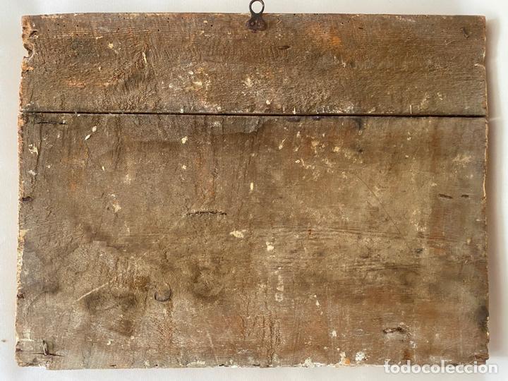 Arte: circuncisión de jesus , óleo tabla del S. XVII o quizás anterior . escuela española - Foto 8 - 209832540