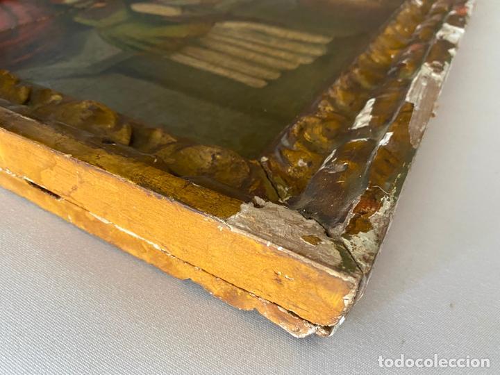 Arte: circuncisión de jesus , óleo tabla del S. XVII o quizás anterior . escuela española - Foto 9 - 209832540