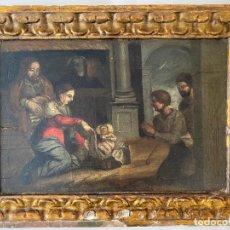 Arte: PRESENTACIÓN DEL NIÑO JESUS , ÓLEO TABLA DEL S. XVII O QUIZÁS ANTERIOR . ESCUELA ESPAÑOLA. Lote 209834032