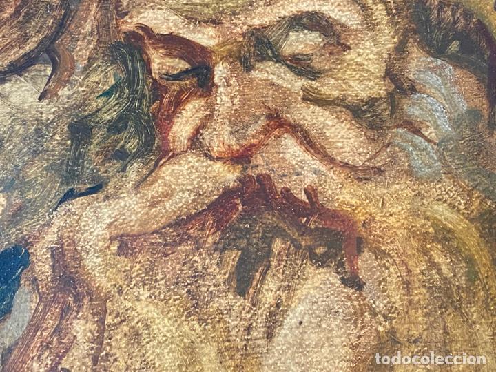 Arte: óleo sobre cartón , comienzos s. XX , personaje a investigar , obra sin firmar - Foto 2 - 209838145