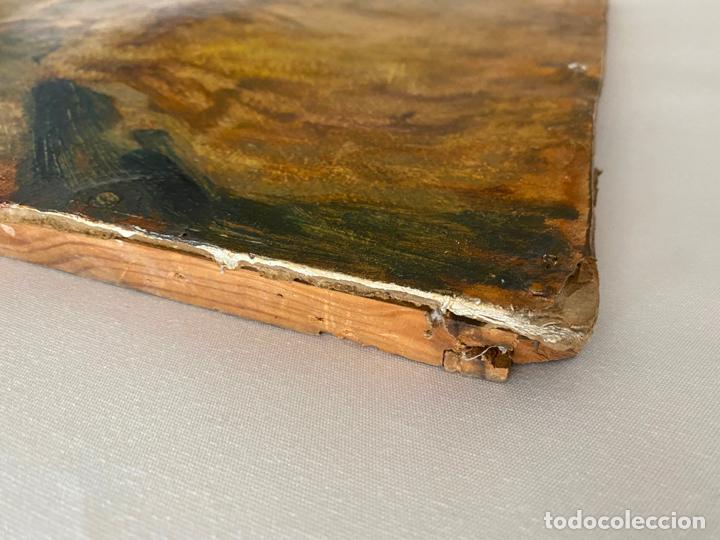 Arte: óleo sobre cartón , comienzos s. XX , personaje a investigar , obra sin firmar - Foto 3 - 209838145