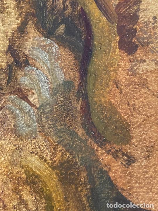 Arte: óleo sobre cartón , comienzos s. XX , personaje a investigar , obra sin firmar - Foto 4 - 209838145