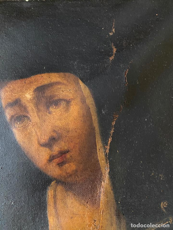 Arte: dolorosa , óleo sobre lienzo , siglo XIX - Foto 4 - 209838805