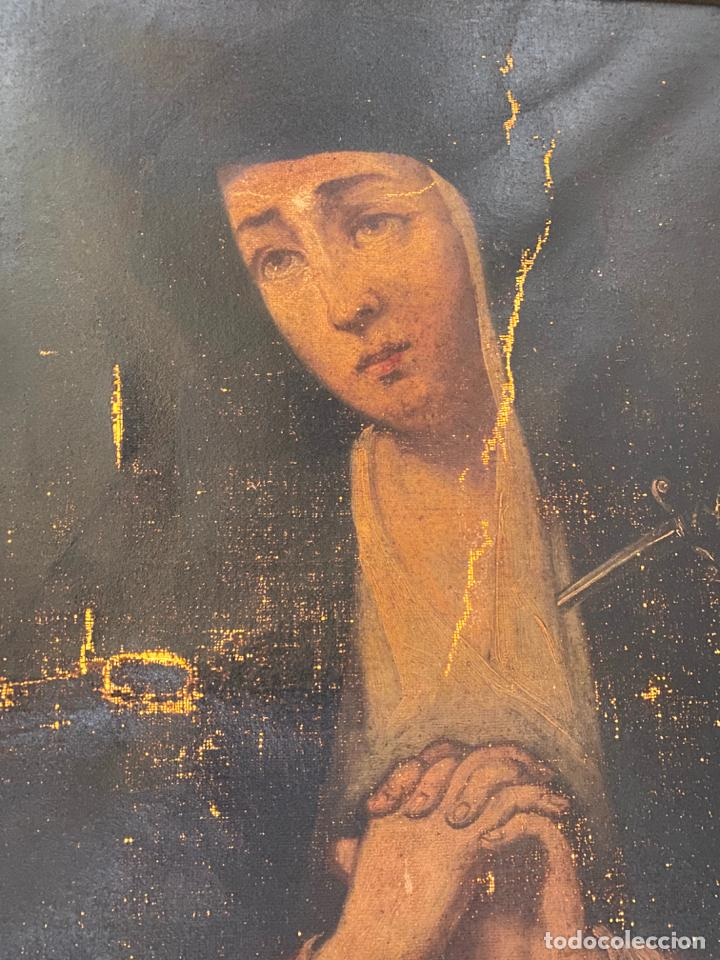 Arte: dolorosa , óleo sobre lienzo , siglo XIX - Foto 5 - 209838805