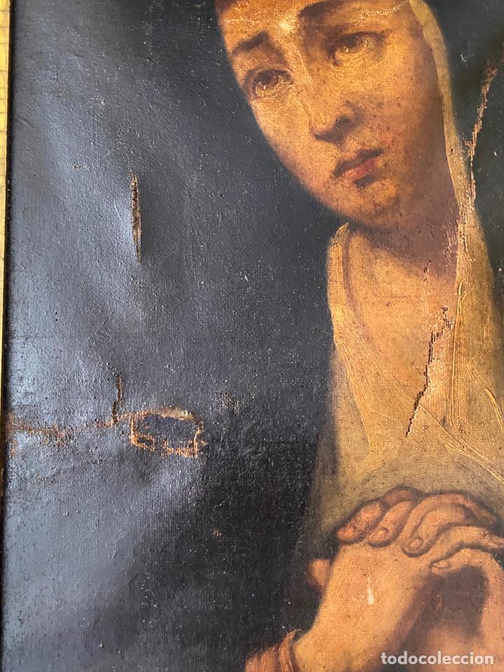 Arte: dolorosa , óleo sobre lienzo , siglo XIX - Foto 8 - 209838805