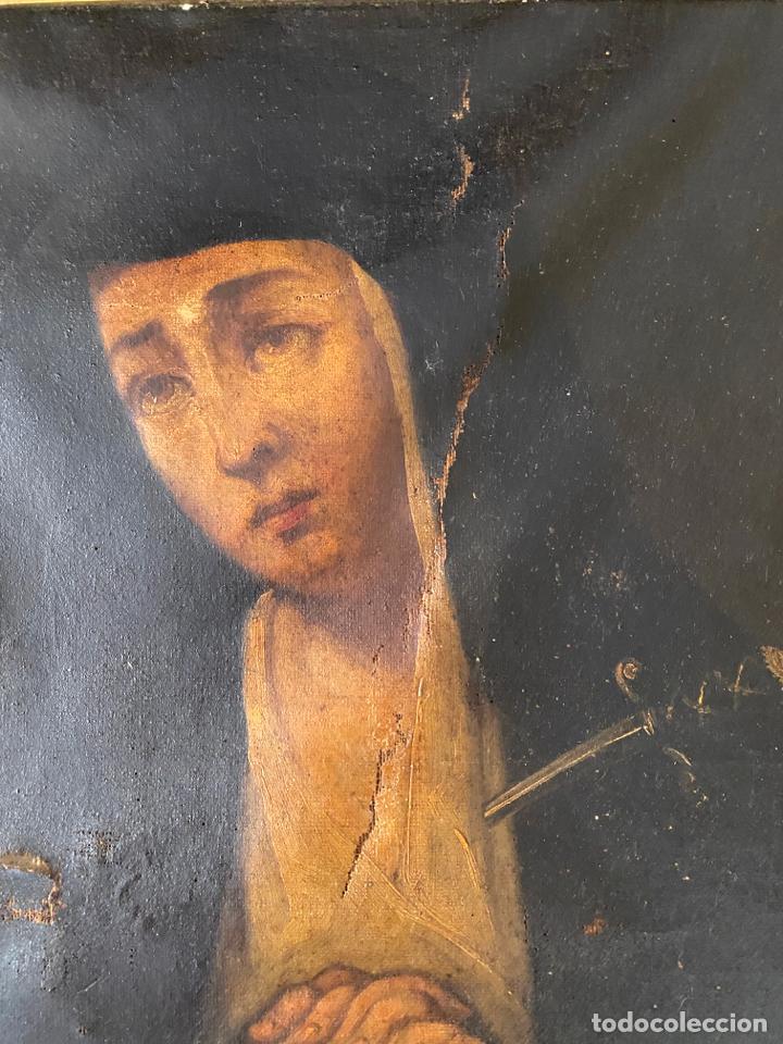 Arte: dolorosa , óleo sobre lienzo , siglo XIX - Foto 9 - 209838805