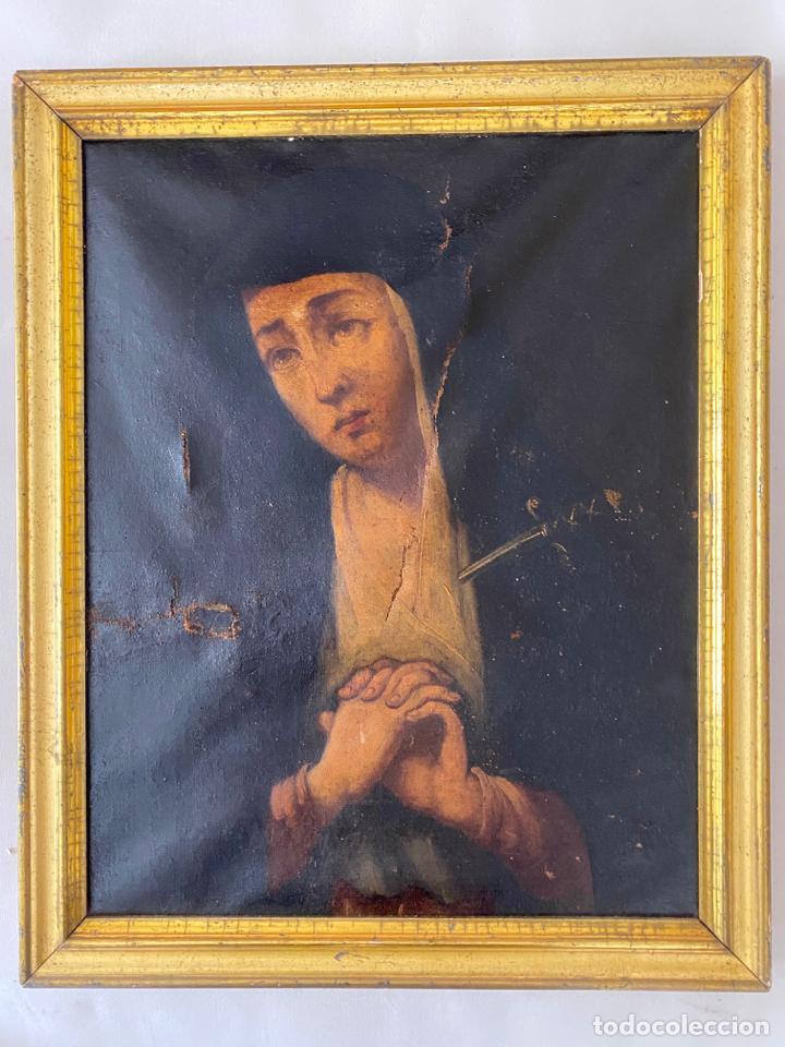 DOLOROSA , ÓLEO SOBRE LIENZO , SIGLO XIX (Arte - Arte Religioso - Pintura Religiosa - Oleo)
