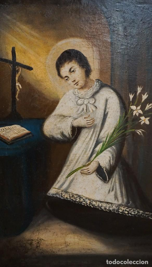 Arte: San Luis Gonzaga óleo sobre lienzo - Foto 2 - 209898885