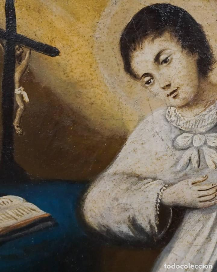 Arte: San Luis Gonzaga óleo sobre lienzo - Foto 4 - 209898885