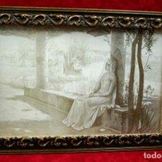 Arte: ANGES,THE REST OF THE VIRGIN DE EDOUARD JEROME PAUPION ILLUSTRATION 1898 MONTAJE CUADRO. Lote 209902025
