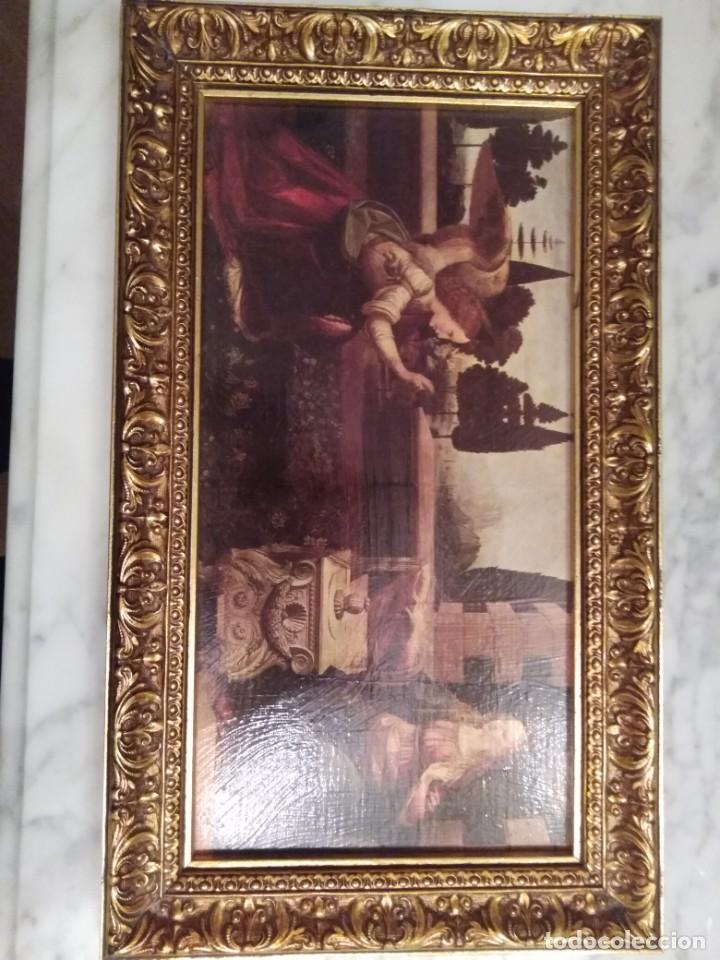 Arte: Cuadro El ángel visita a María - Anunciación - Foto 3 - 210036917